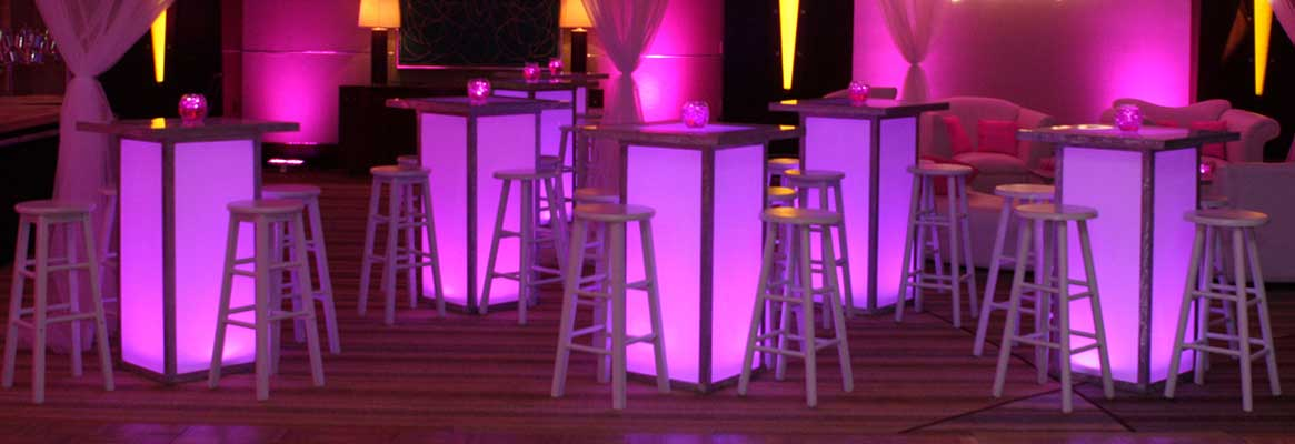 Furniture, décor and all other equipment rentals for New York City sweet 16 events