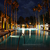 Outdoor poolside lighting design masterfully crafted to provide smooth atmospheric presence at event