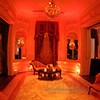 Elegant warm lighting design of interior luxury event space in NYC