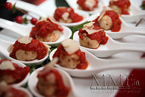 catered meatballs at event
