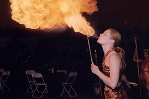 Fire Eater performing at event