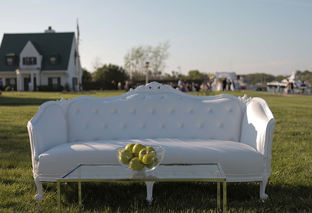 hamptons white ornate sofa wedding