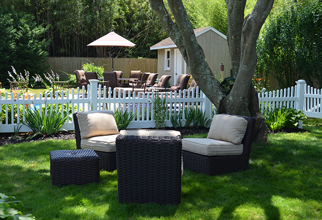 wicker lounge private events backyard