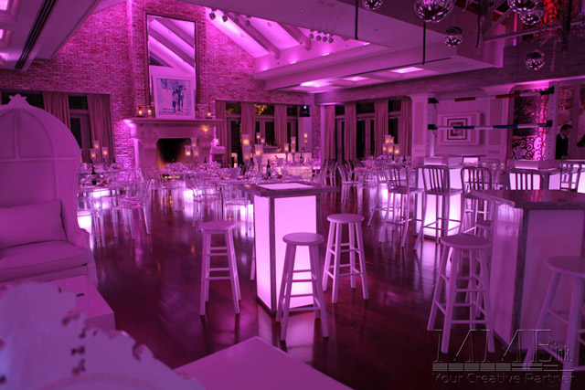 Lounge furniture rental for nyc sweet 16 parties