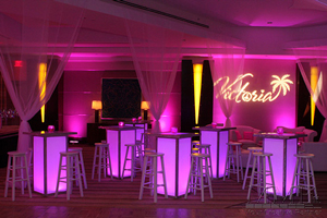 Pink lounge rental furniture sweet 16 event