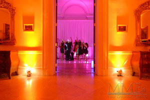 Sweet 16 custom event lighting design