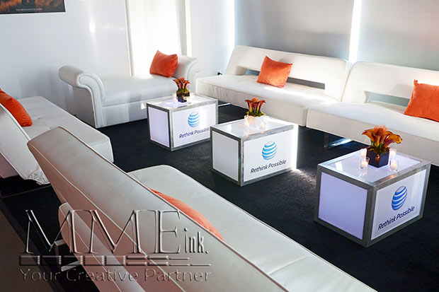 AT&T branded loung decor rentals