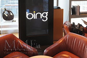 Bing branded display setup at event